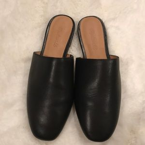 Madewell Black Cory Leather Mule, worn once